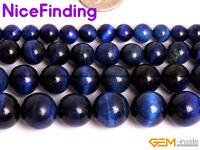 6mm 8mm 10mm 12mm Tiger Eye Round Stone Beads For Jewelry Making Assorted Color