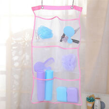 6 Pocket Bathroom Kitcken Tub Shower Hanging Mesh Organizer Caddy Storage Bag
