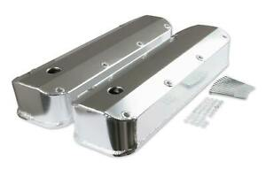 Mr. Gasket Fabricated Aluminum Valve Covers - Silver Finish - 6874G