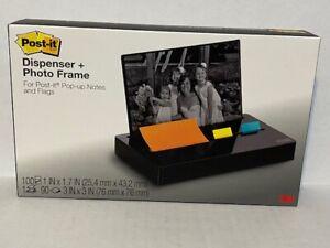 Post-it Pop-up Note Flag Dispenser Plus Photo Frame Black