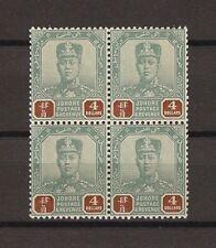 MALAYA/JOHORE 1904/10 SG 73 MNH Block Cat £192