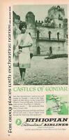 1967 Original Advertising' Ethiopian Airlines Company Aerial Castles Of Gondar