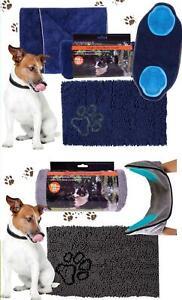 Pet Microfiber Set Quick Drying  Absorbent Towel Doormat Hair Removing Mitt