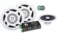 "E-Audio 6.5"" Bluetooth Home Bathroom Kitchen Ceiling 2 x 30w Speaker Kit"