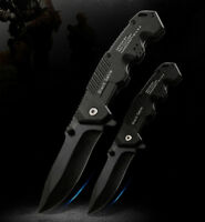 Tactical Folding Blade Knife Stainles Steel Portable Camping Utility Hiking Tool