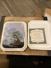 """New ListingBradford Exchange """"With His Mate Nearby"""" Nature'S Harmony Plate#15762a"""