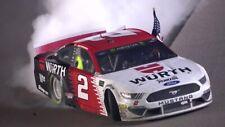 NASCAR SUPERSTAR BRAD KESELOWSKI WINS AT KANSAS  8X10 PHOTO W/BORDERS