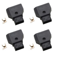 4 x Dtap D-Tap Male Plug Power Connector for Anton Camcorder Rig Power Cable