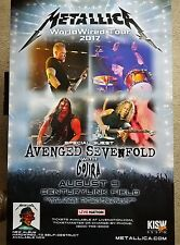 Metallica Promo Concert Poster - World Wired Tour RARE 2017