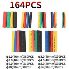 164pcs Heat Shrink Tubing Tube Assortment Wire Cable Insulation Sleeving Set New