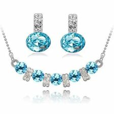 Austrain Crystal Multi Colorful Fashion Jewelry Sets Necklace Earrings