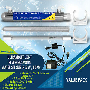 Ultraviolet Light Water Purifier Reverse Osmosis UV Sterilizer 12W