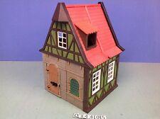 (O3440.5) playmobil maison médiévale verte le tailleur ref 3440 3666