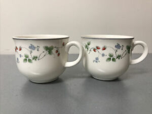 ROYAL DOULTON EXPRESSIONS ENGLISH CHINA STRAWBERRY FAYRE TEA  CUP LOT OFF 2