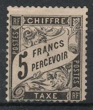 "FRANCE STAMP TIMBRE TAXE 24 "" TYPE DUVAL 5F NOIR "" NEUF x  SIGNE  A VOIR  M062"