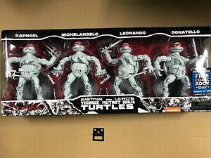 PlayMates FCBD 2021 TMNT Ninja Turtles Elite Series PX Black and White Action