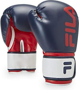 FILA Fitness Boxing Gloves Kickboxing Heavy Bag Punching Men & Women Blue 12 oz