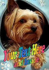 PERSONALISED YORKSHIRE TERRIER YORKIE DOG BIRTHDAY ANY OCCASION CARD IllusInsert