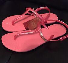 1bcd0c1920e8f Havaianas Sling Back Flip Flops Sandal U.S Women s 11 -11.5 Pink W Gold  Logo NWT