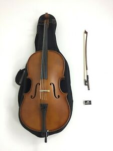 Symphony Solid Wood Handmade Cello,1/8 Size, w/Soft Gig Bag,Bow,Rosin LTC-50980