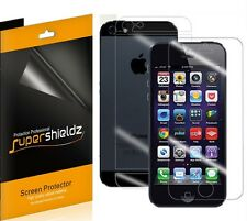 3x Supershieldz Front + Back Clear Screen Protector for Apple iPhone 5 5S