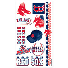 BOSTON RED SOX TEMPORARY TATTOOS GAME TAILGATE PARTY FACE BODY MLB BASEBALL