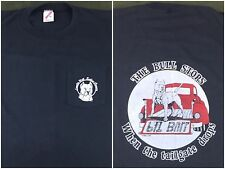 Vintage Mens XL 1987 Pit Bill Dog When The Tailgate Drops Graphic Black T-Shirt