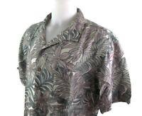 Batik Bay Men Tropical Floral Hawaiian Shirt Size XXL Casual Camp
