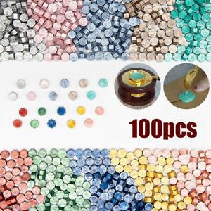100Pcs Sealing Wax  Beads Stamp Vintage Craft Wedding Invitation Envelope Making