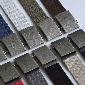 Stoffgürtel 100-150 cm Canvas Belt Jeans Gürtel schiebe schnalle 4 cm breit KMAK