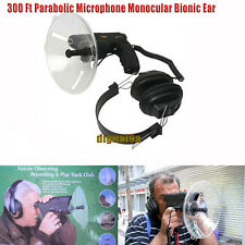 300Ft Parabolic Microphone Monocular Bionic Ear For Long Range Listening Up 100M