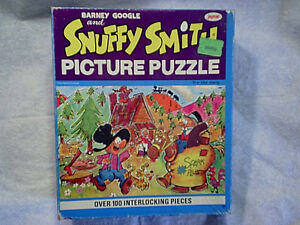 1960's BARNEY GOOGLE AND SNUFFY SMITH PUZZLE Complete tv cartoon show,hillbilly