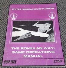 The Romulan Way: Game Operations Manual - Star Trek RPG FASA 1200