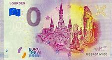 BILLET 0  EURO LOURDES FRANCE  2020 NUMERO DIVERS