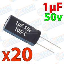 20x Condensador 1uF 50v electrolitico 105ºC 20% 4x8 PCB PIC Arduino