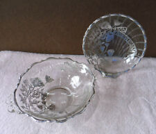 2 - Sterling Silver and Glass 25th Anniversary Dish Bowl