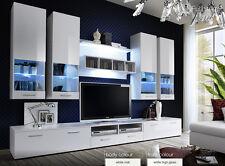 Modern Wall Unit Tv Display Living Room High Gloss Led Furniture Dorade Free P&P