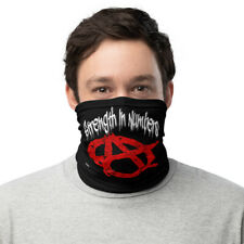 Anarchy Anon Anonymous Face Cover  Mouth Cover Anarchist symbol Neck Gaiter