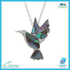 "Tide Jewellery Inlaid Paua Shell Hummingbird Pendant On 18"" UK Brand TJ084"