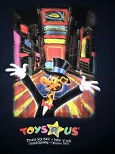 Toys R Us T-Shirt Adult XL Blue 2001 New York Times Square Grand Opening Rare