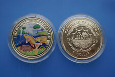 Liberia 1 dollari farbmünze 1999 Marine Life PROTECTION -- motivo Marino (er08)
