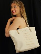 Kate Spade WEDDING BELLES BON SHOPPER SIDEKICKS PEAS POD Tote Travel Bag Canvas