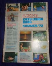 AM122 Vtg T. Eaton Co. Easy Living Book Summer 1972 Sales Catalog