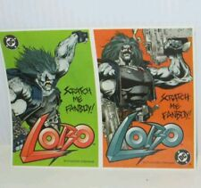 DC COMICS LOBO COMIC CHARACTER SCRATCH ME FANBOY SCRATCH & SNIFF STICKERS 1983