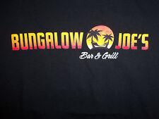 Bungalow Joe's Bar & Grill Sports Bar Restaurant Black Graphic Print T Shirt - M