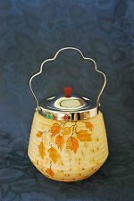 """1940's """"Bramley""""  Pottery Biscuit Barrel with lid - VG Condition       #152"""