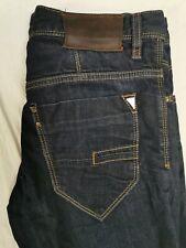 Antony Morato Mens Jeans Slim Fit Dark Blue Button Fly Size 32