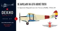 De Havilland H-87A Hornet Moth FARE - DEKNO models - 1/72 - resin kit