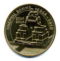 80 THIEPVAL Mémorial 3, 1914-1918, 2014-2018, 2015, Monnaie de Paris