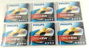 Lot de 6 DVD+RW 4,7GB 120min Philips Neufs et scelles  Envoi rapide et suivi